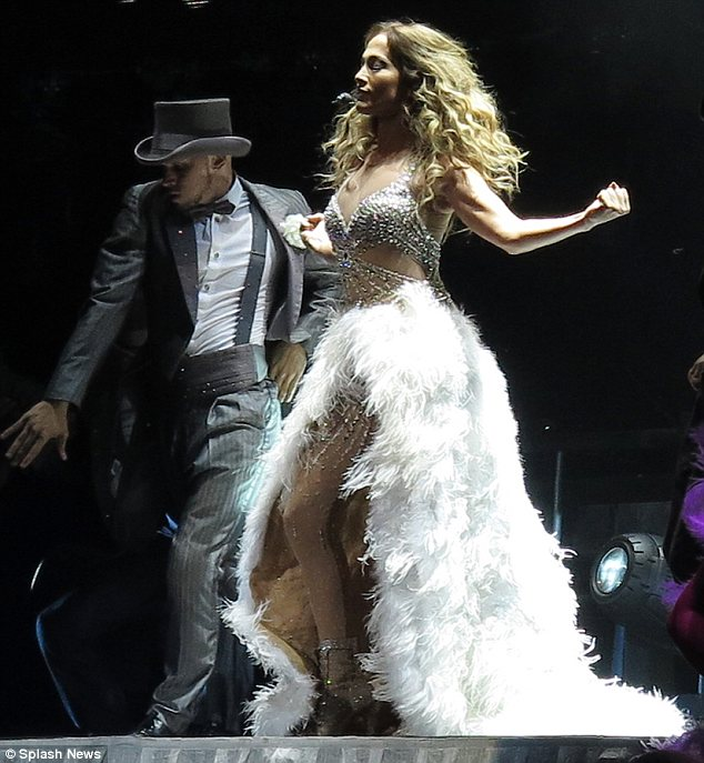 Ruffling feathers: No doubt the audience felt like they got their money's worth while watching Jennifer's Perth concert