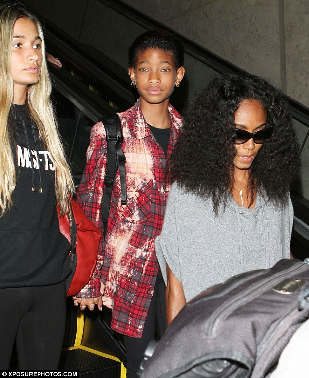Super stylish teens: Willow and Jaden Smith look older than their years in edgy outfits as they fly back to LA from Kauai