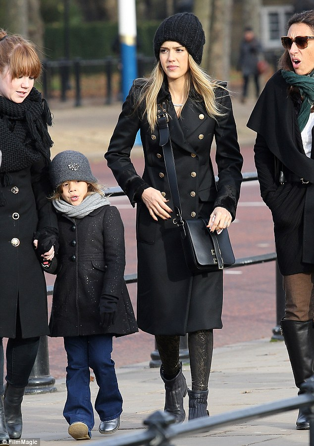 Mother-daughter time: The duo seemed to be in their element as the soaked up the sights and sounds of London with a group of friends