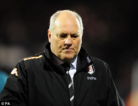 Frustrated: Martin Jol is disappointed to lose Ruiz for a further four weeks