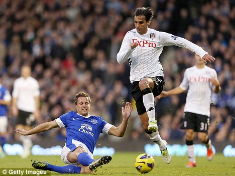 Injury frustration: Bryan Ruiz has been ruled out until the New Year