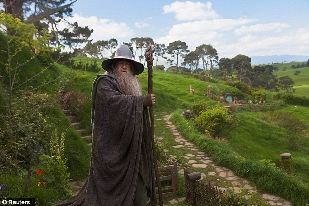 Welcome back: Sir Ian McKellen returns as a slightly younger Gandalf in The Hobbit: An Unexpected Journey