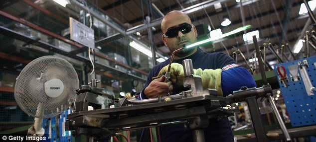 Making do: The fall in factory output was far worse than had been expected.
