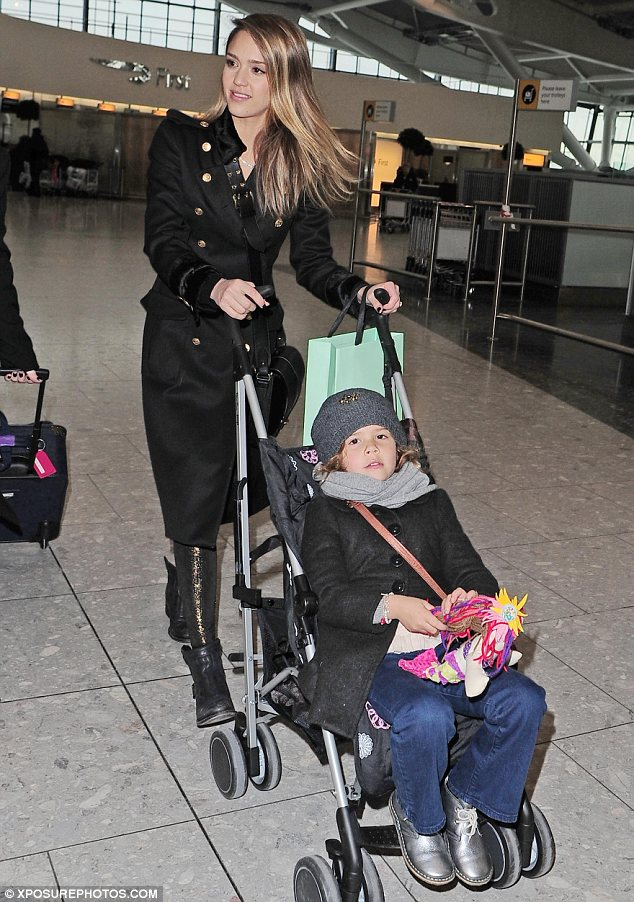 Flying visit: After their trip to the palace the pair were seen arriving at Heathrow airport to head back home