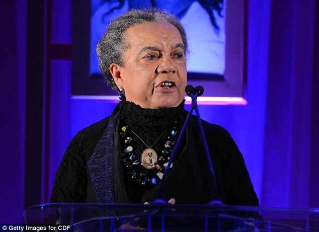 At the helm: Childrens Defense Fund President Marian Wright Edelman speaks onstage