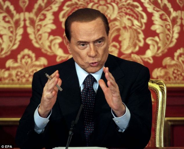 Vying for power: The emergence of the relationship comes as Silvio Berlusconi (pictured) confirmed he will run for leadership again in next year's election