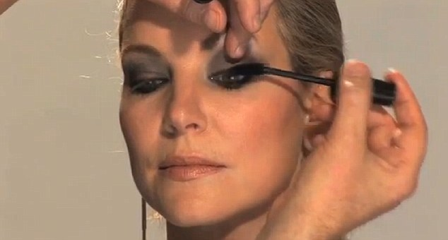 Finishing touch: Finally add black mascara or false eyelashes for a more dramatic look