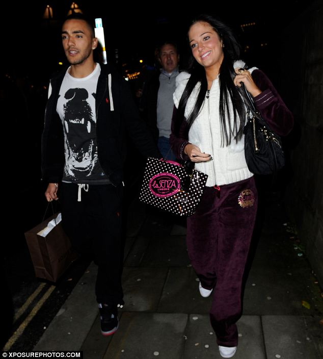 New knickers? Tulisa and Danny were spotted doing some Christmas shopping before getting their takeaway. Tulisa carried a bag from La Senza