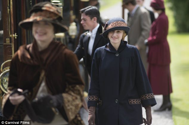 Tourist spot: Lady Cora and Lady Edith arrive at the castle which was filmed at Inveraray Castle on Loch Fyne in Argyll ¿ an area already hugely popular with tourists because of the idyllic landscape