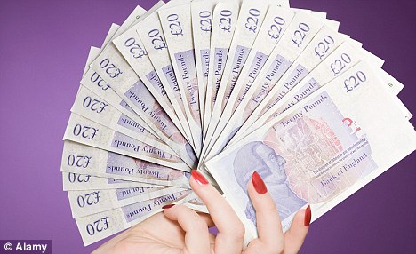 Windfall: Around 28,000 savers are to receive a one-off payment of up to £5,000