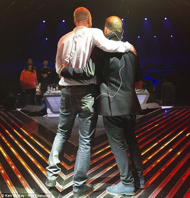Christopher is reportedly very concerned about his voice, which may be why Gary is seen offering him support