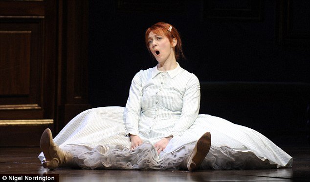 Ciofi on stage at the Royal Opera House in La Fille du Regiment by Donizetti and directed by Laurent Pelly in April
