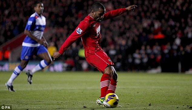 Winning ways: Jason Puncheon scores for Southampton