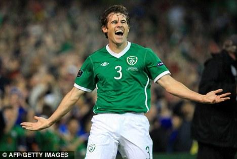 Star man: Kilbane was a well-established member of the Ireland setup