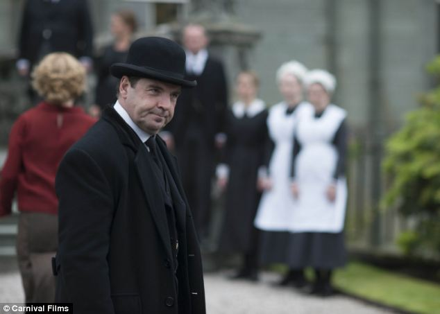 Best loved servants: Bates (Brendan Coyle) and his wife Anna accompany the Granthams on their time away