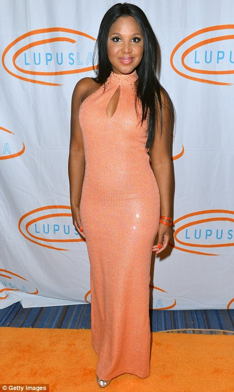 Hospitalised: Toni Braxton has been taken to hospital as a result of her Lupus disease