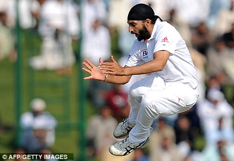 Tail end: Monty Panesar took the final wicket of the day