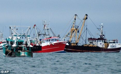 And the Environment minster slammed current fishing policies, saying they threaten to destroy the British industry