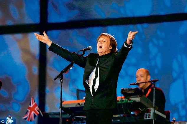 'Time To Let It Be': Opinions were mixed over the former Beatle's performance of the classic song Hey Jude during the opening ceremony of the London 2012 Olympic Games