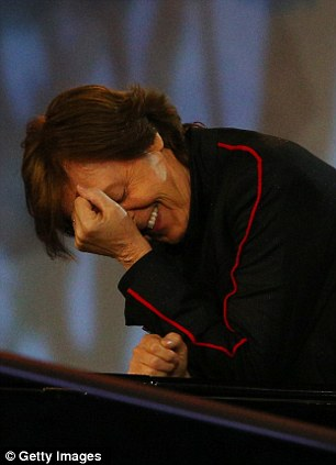 'Embarrassed': Sir Paul McCartney during the Opening Ceremony