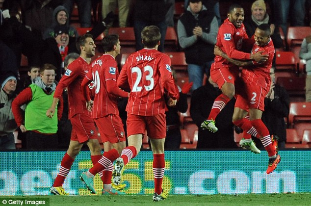 Delight: Jason Puncheon scored the decisive goal