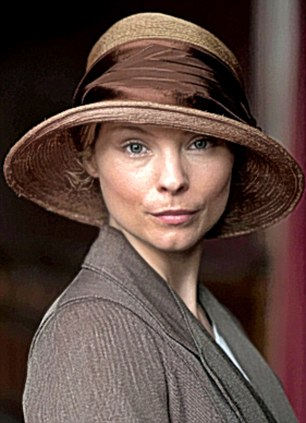 The vamp maid: Swedish actress MyAnna Buring, 28, vampire Tanya in The Twilight Saga, is headstrong new maid, Edna. She soon sets her sights on Lady Sybil's widower, former chauffeur Tom Branson