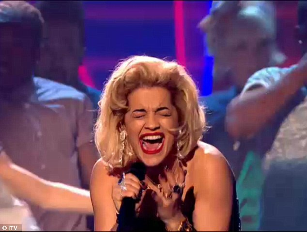 Giving it her all: the British singer went all out for her performance, singing RIP and This Is How We Do