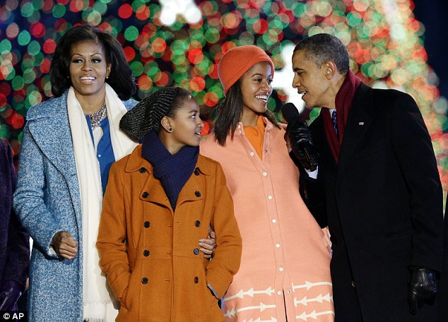 In attendance: The Obamas, pictured at last week's annual tree-lighting ceremony, are still going to this year's 'Christmas in Washington' concert
