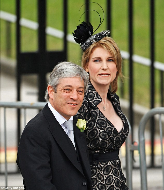 Let-down: Sally Bercow took to Twitter to vent her disappointment that husband John had fallen asleep