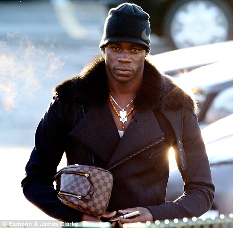 Madcap Mario: Balotelli has been involved in a couple of scrapes while out and about driving in Manchester