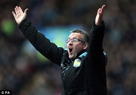 Return: Paul Lambert takes his Aston Villa side to Norwich on Tuesday