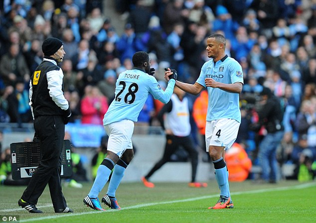 Effort: Vincent Kompany (right) appeared on the show - but there was only so much he could say