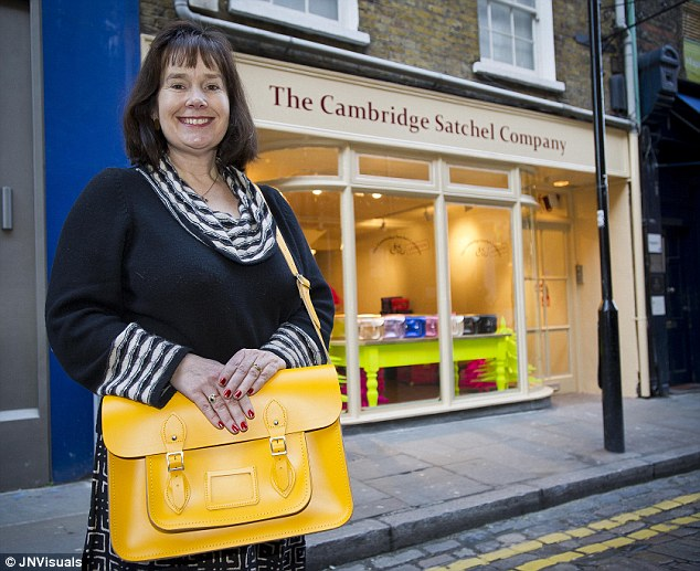 Humble beginnings: The Cambridge Satchel Company, which was started with a budget of £600, has just opened a shop in Covent Garden