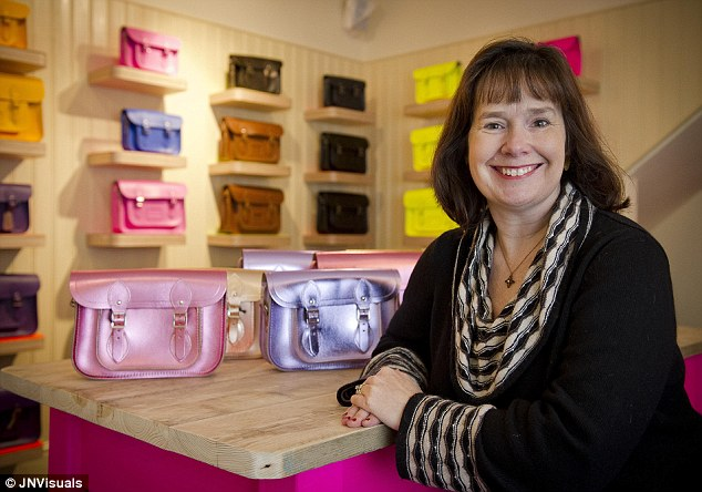 Bright idea: Mrs Deane first thought about satchels when her children were reading Harry Potter and asked her for some similar to the ones worn by the characters in the book