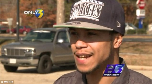 First responder: Devin McClean, 23, was fired from his job at a Virginia AutoZone after during an armed robbery at the store he slipped out and returned with a handgun, frightening away the would-be robber
