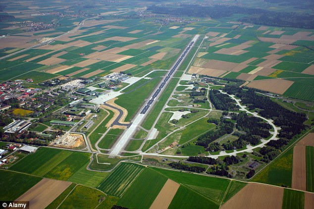 The pilots wrongly set the auto-pilot to descend into Memmingen Airport (pictured) in Bavaria at a faster altitude, an investigation by the Germany's air safety watchdog has found