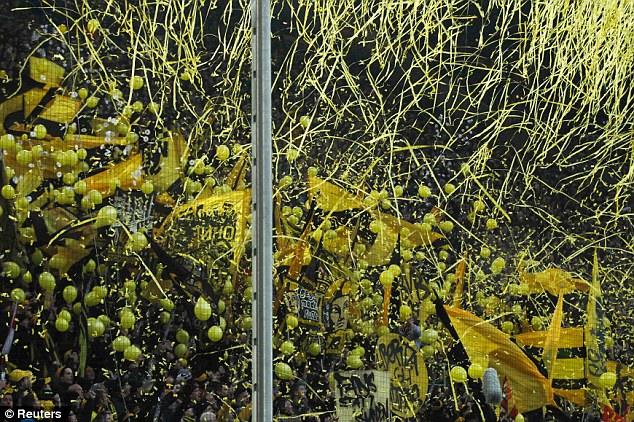 Net profit: Again, at first glance the net at Borussia Dortmund's Westfalenstadion is hard to spot