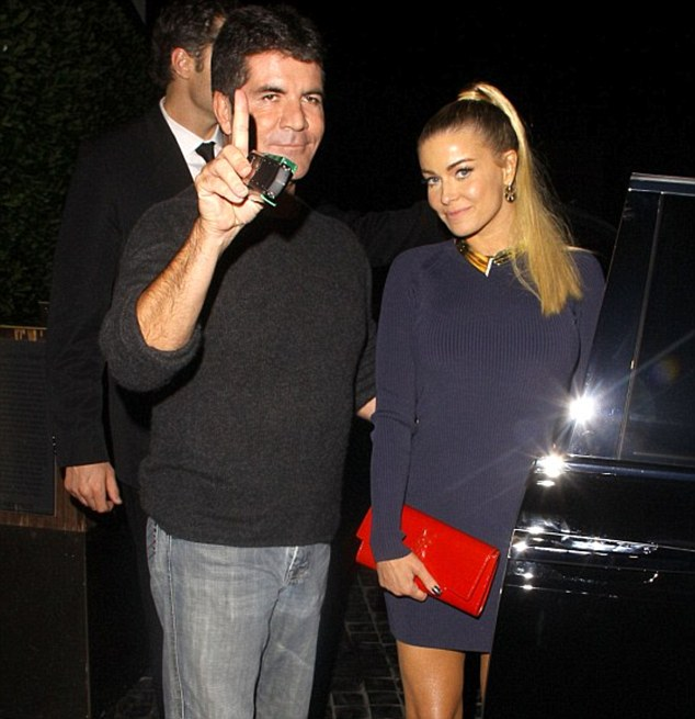 Same place, different date: Simon Cowell out with Carmen Electra at Cecconi's in LA in September