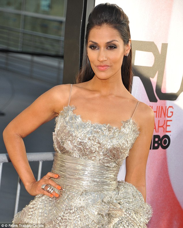 Sexy: Janina Gavankar arrives at the fifth season premiere of HBO's True Blood in Hollywood in May