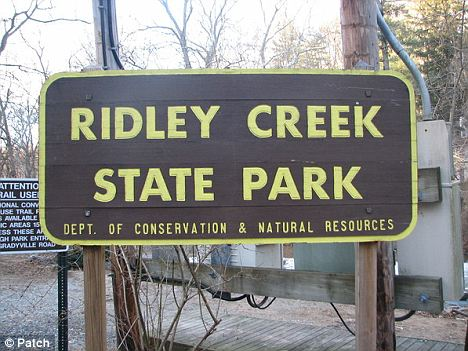 Scene: Mastracola's body was found in a heavily wooded area of Ridley Creek State Park