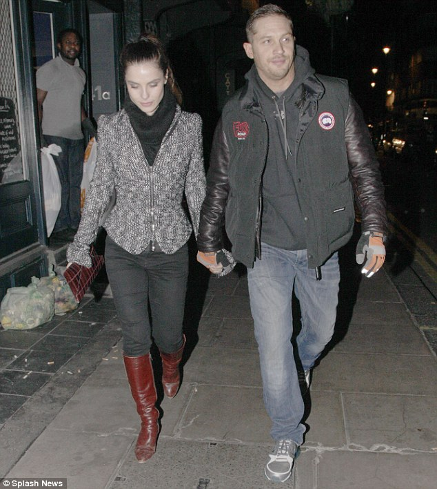 Post-premiere date: Charlotte and Tom headed to the Groucho Club for some drinks after the premiere