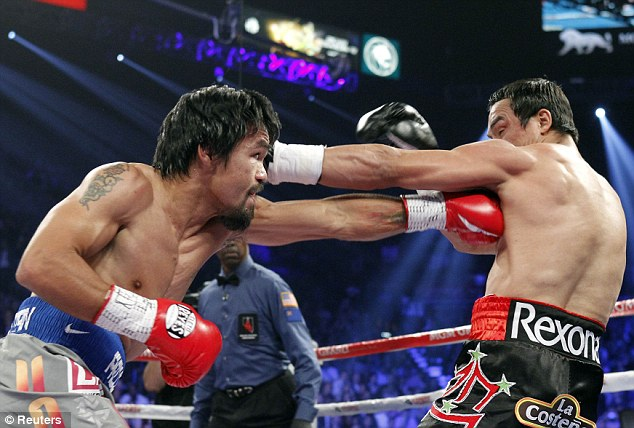 New alliance: The rapper has now joined forces with Manny Pacquiao (left) over future promotions