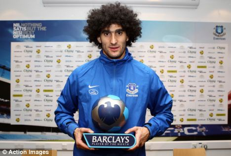 Fellaini's four goals this month have been vital for Everton's European aspirations and the Toffees lie 4th in the table