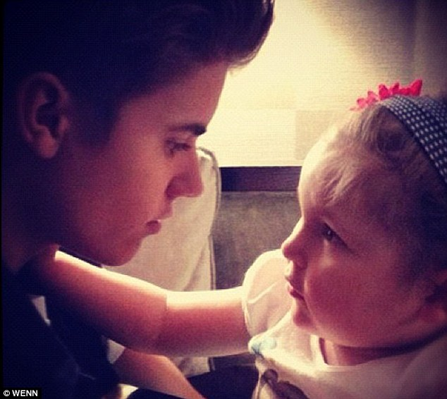 Angel: The pop star posted this picture with Avalanna shortly after the little girl lost her battle with cancer