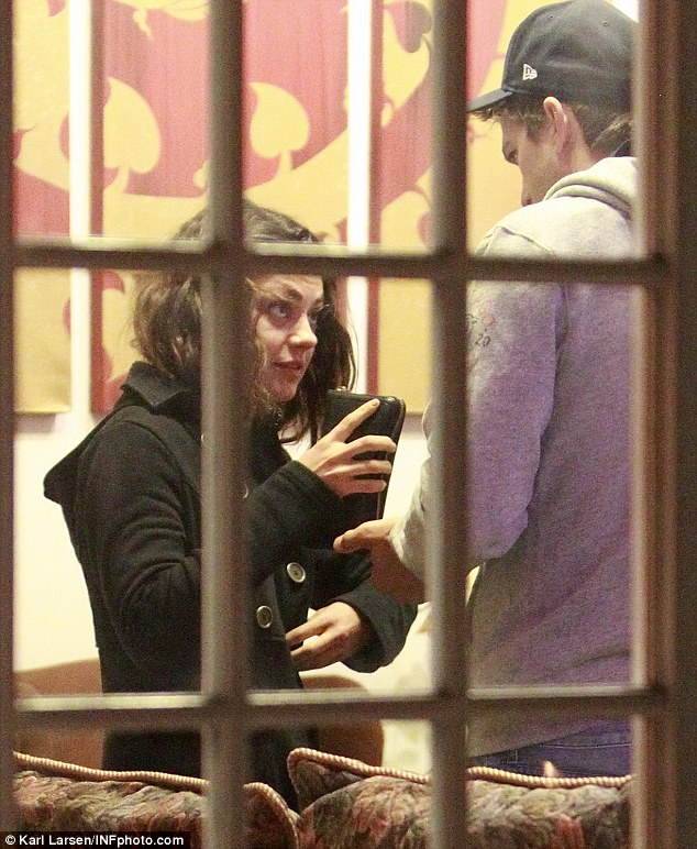His and hers: Ashton Kutcher and Mila Kunis went in for a relaxing treatment at a Thai massage parlor in Los Angeles on Monday