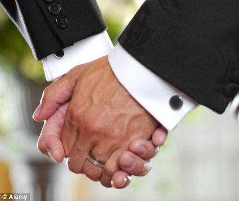 Love-ly law: The new legislation means civil partners will be able to change the legal status of their relationship to marriage