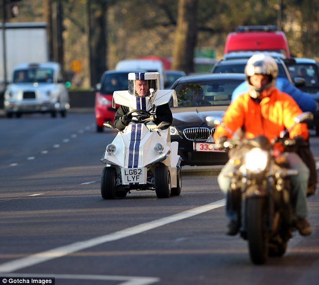 The future: Jeremy was filming scenes for the new series of Top Gear in the innovative car