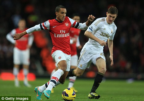 Wanted man: Manchester United are leading the race to sign Theo Walcott
