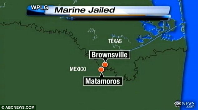 Jailed: Hammar was taken into custody right after crossing the border from Brownsivlle, Texas, and is now being held at a prison in Matamoros