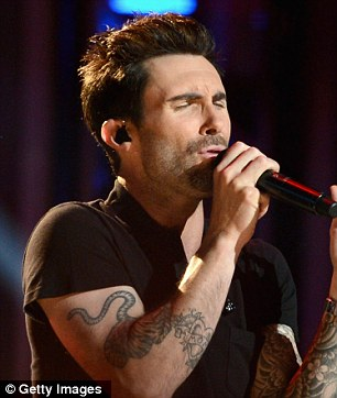 Gentle fun: Moves Like Jagger was a massive hit for Adam Levine and his band last year
